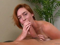 Well-endowed inviting blonde slut Jodi gives a hard diseased veiny dicked