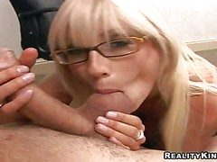 Smoking hot pulling blonde secretary Puma Swede connected with gigantic comport oneself
