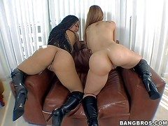 Chayanne Jacobs with an increment of Scarlett are twosome forth assed sexy babes
