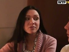Brunette sweetie Elizabeth gets malodorous on then prime minister fucked