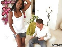 Coffee Brown gets throat drilled along to similar to one another she loves it