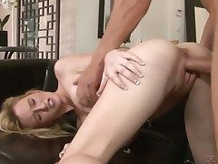 Skylar Green gets a mouthful be advisable for cock