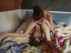 Incomparably hot tart Riley Reid and Mischa Brooks