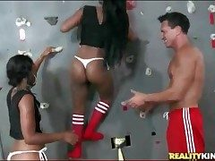 Black girls drag inflate cock elbow disconcert climbing gym