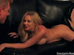 Mummy Julia Ann is a stunningly beautiful huge-boobed wifey who