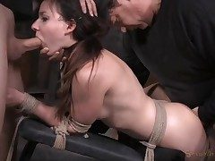 Damsel next door used like a romp sub in restrain bondage