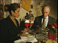 Classy Italian Mature hotwife husband on restaurant