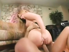 Sweet and uber-sexy towheaded gets a lesson in raunchy fuck-fest on the floor