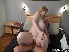 Hard sex with fatty after massage