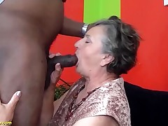 80 years senior granny first time interracial fucked